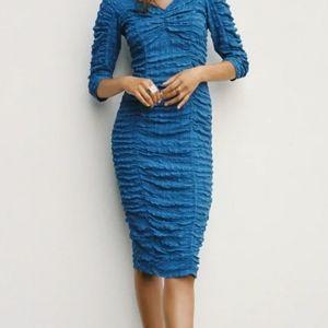 Zara V neck midi dress